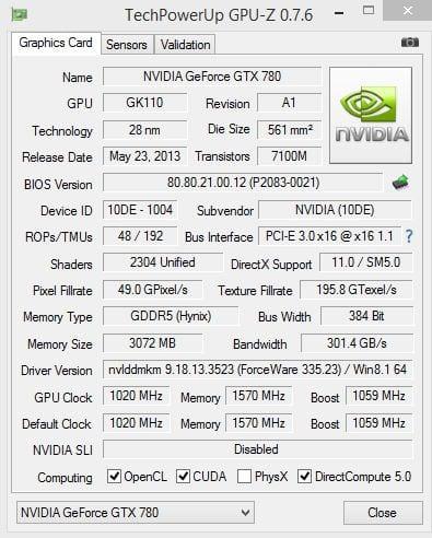 gpu 780 hybrid