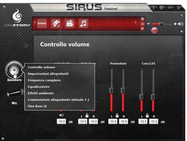 sirius audio center