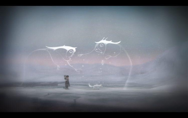 Gli spiriti che forniranno appigli e piattaforme mobili sono visibili solo se la Volpe è vicina a essi.