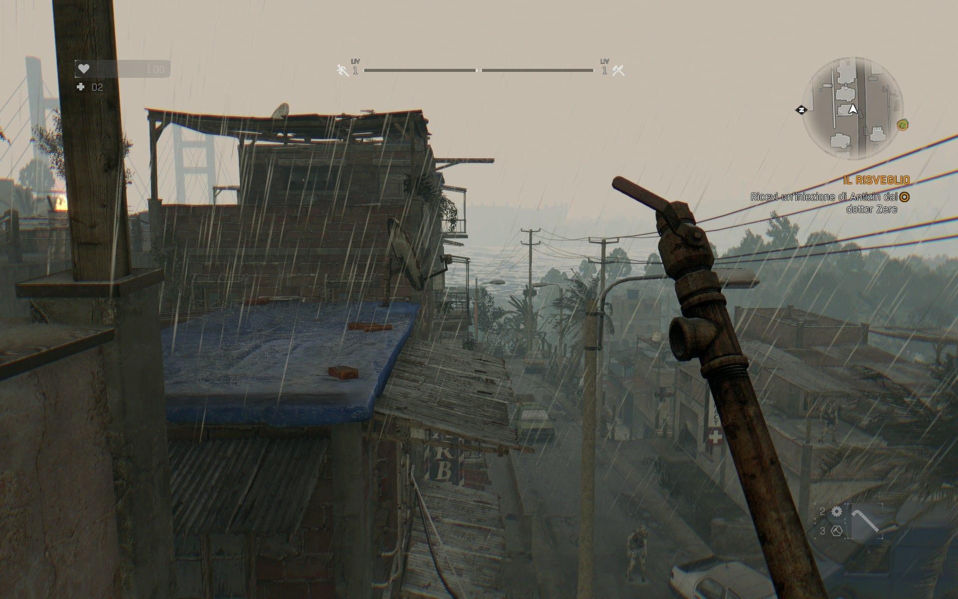 La pioggia è ben realizzata, peccato che abbia solamente un impatto estetico