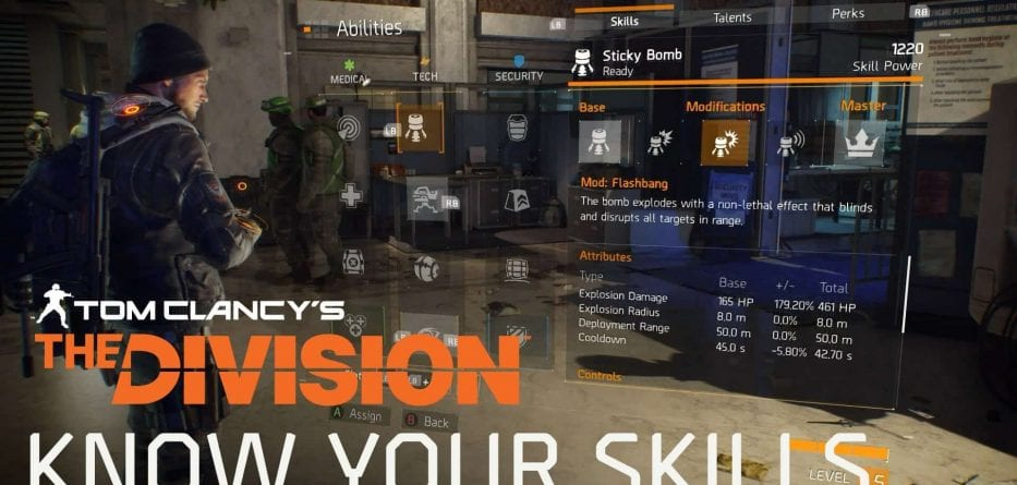 Tom Clancy's The Division, arriva un trailer delle skill