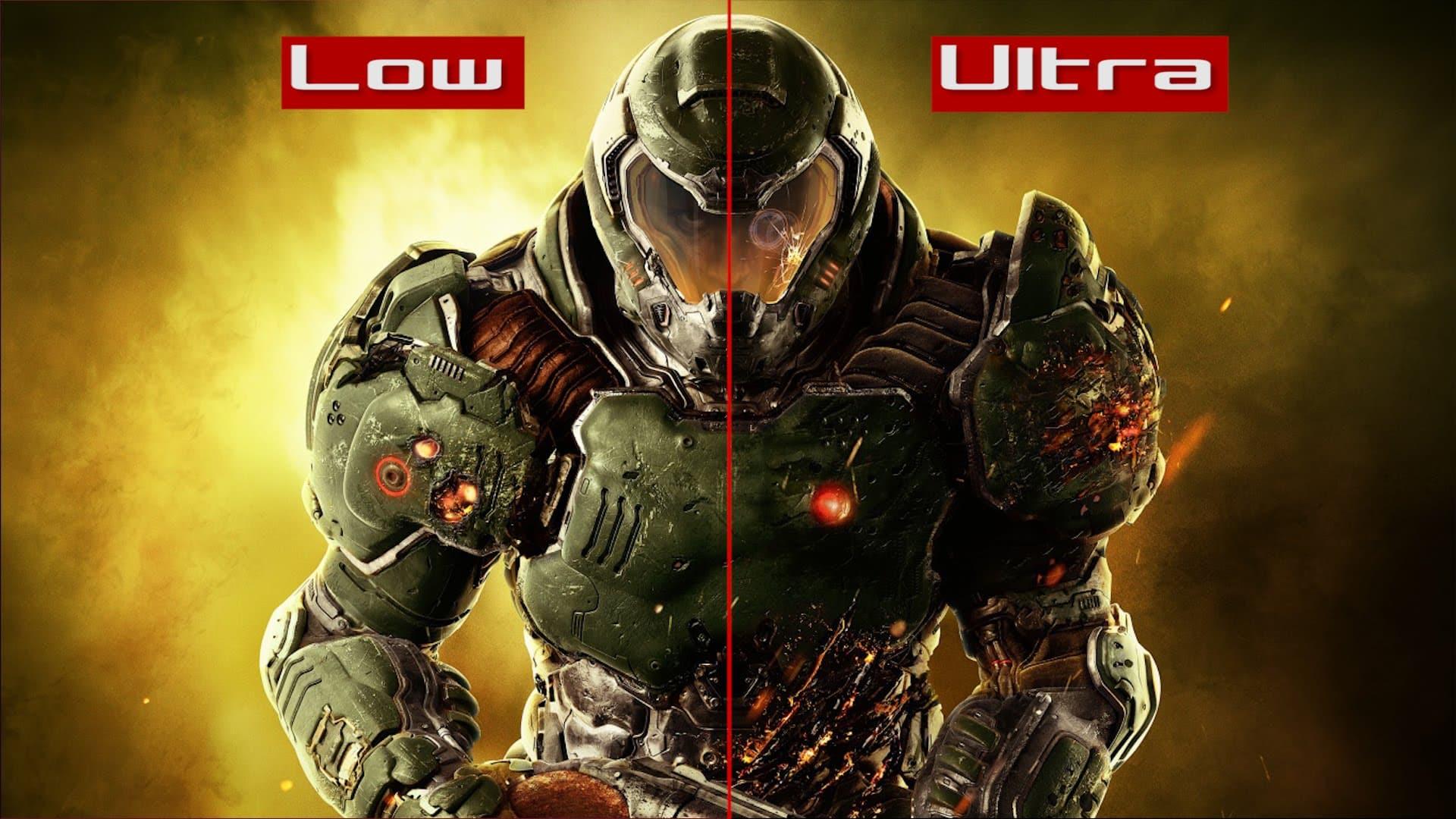 DOOM - PC Low vs Ultra - Confronto Impostazioni Grafiche