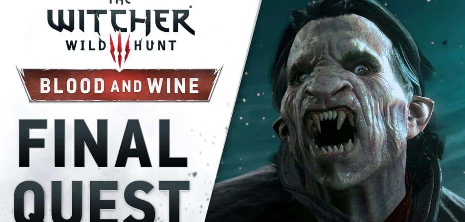 "Disponibile il nuovo trailer ""Final Quest"" per The Witcher 3: Wild Hunt - Blood and Wine"