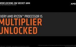 AMD RYZEN: tutti i processori potranno essere overclockati