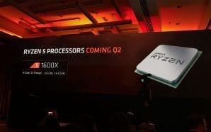 Le CPU AMD Ryzen 5 a Sei-Core arriveranno nel Q2-2017,…