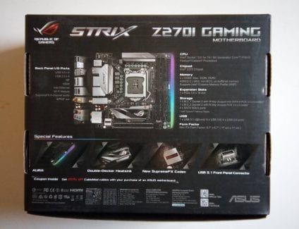 Asus Z270I recensione, ASUS STRIX Z270I GAMING – Recensione