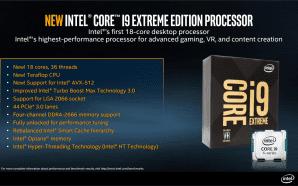 Intel ufficializza la serie Core X, i9 fino a 18…