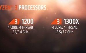 AMD lancia i nuovi processori quad core Ryzen 3, a…