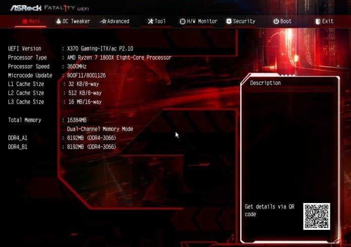 asrock x370 itx bios1 1 696x489 - ASRock Fatal1ty X370 Gaming-ITX/ac - Recensione