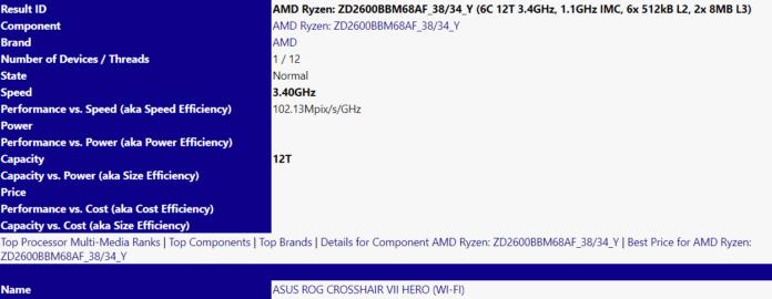 AMD Ryzen 5 2600 ASUS Crosshair Hero VII 696x270 - Avvistati AMD Ryzen 5 2600 e ASUS ROG Crosshair VII Hero
