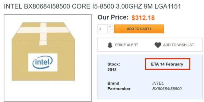 intel i5 8500 696x349 - Intel Core i3-8300, i5-8500, i5-8600: compaiono prezzi e data di lancio