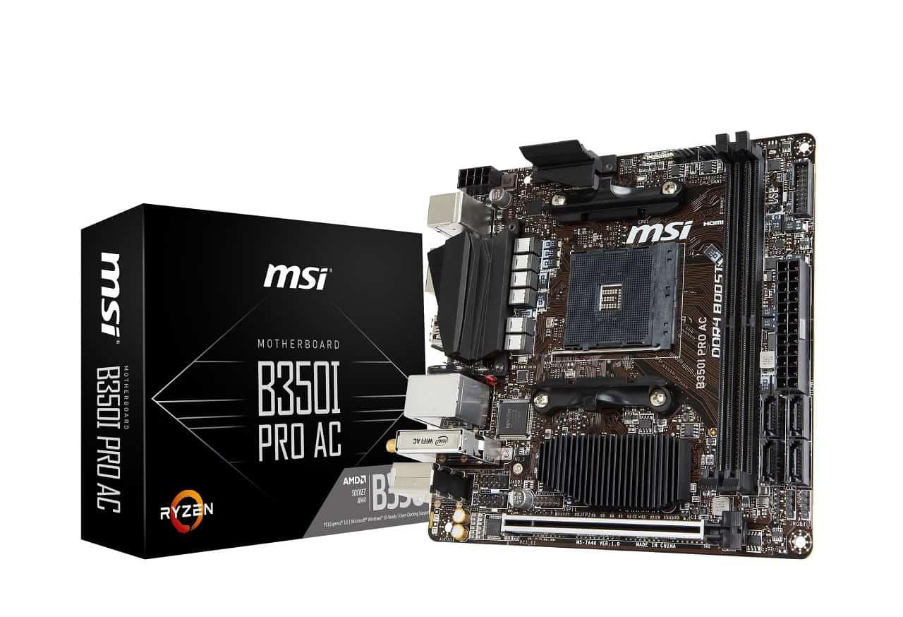 msi B350I PRO AC photo Box - MSI lancia la nuova scheda madre Ryzen Mini-ITX B350I PRO AC