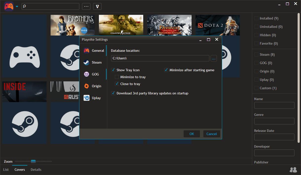 playnite - 6 utility gratuite per il vostro PC da gioco