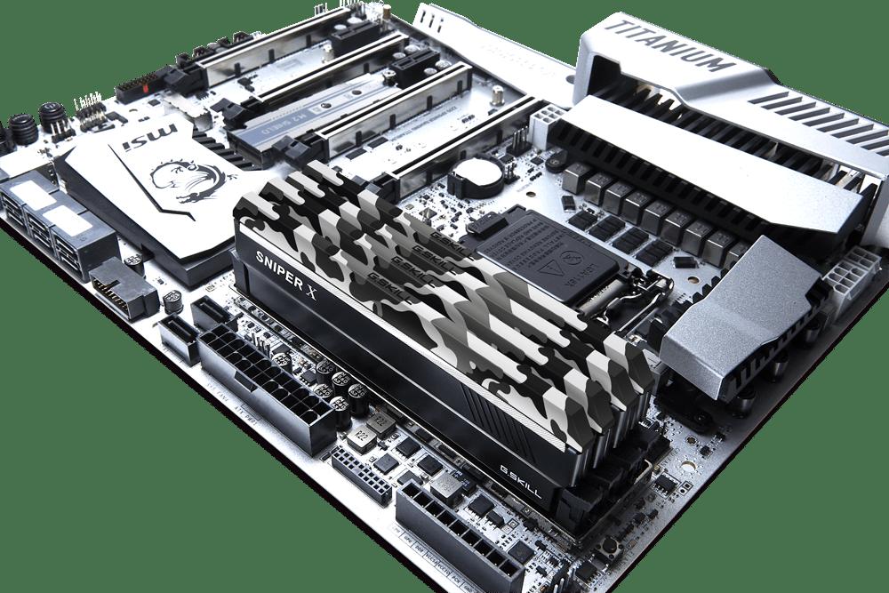 sniper.x.urban  - G.SKILL lancia le nuove memorie mimetiche Sniper X DDR4