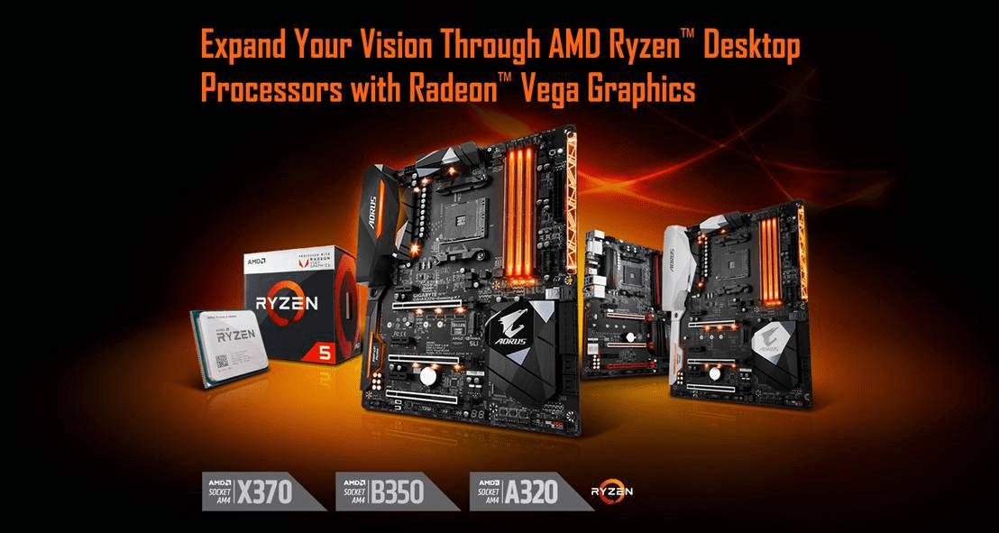 PR GIGABYTE AM4 MB Radeon Vega Support - Le Schede Madri AM4 di GIGABYTE si aggiornano per Ryzen 2000