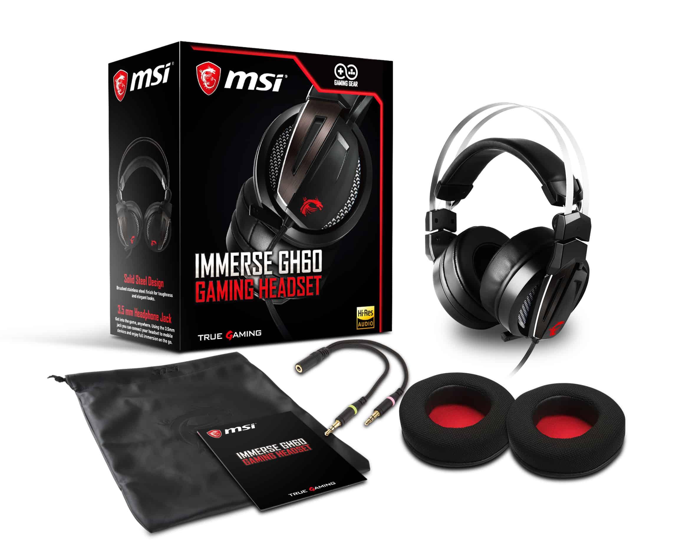 msi immerse gh60 gaming headset product photos boxshot2 - MSI annuncia le nuove cuffie GH60, tastiera Vigor GK40 e un set combo