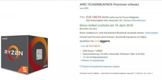 La nuova CPU Ryzen 5 2600X su Amazon