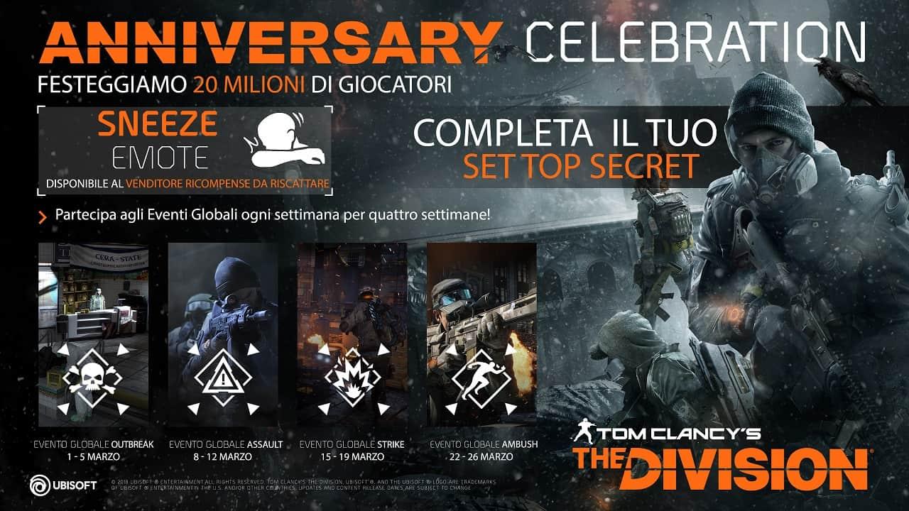 TCTD TWO YEARS ANNIVERSARY FLASHCARD - Tom Clancy's The Division supera i 20 milioni di giocatori