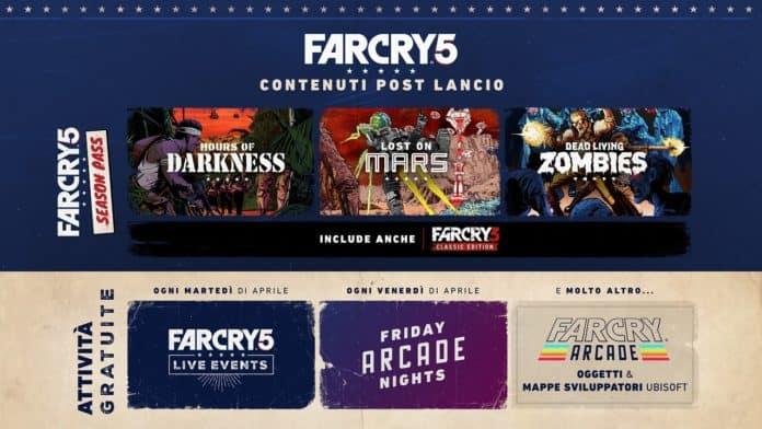 farcry5 Post Launch Roadmap 2 IT 696x392 - Ubisoft svela i contenuti gratuiti della modalità Arcade di Far Cry 5