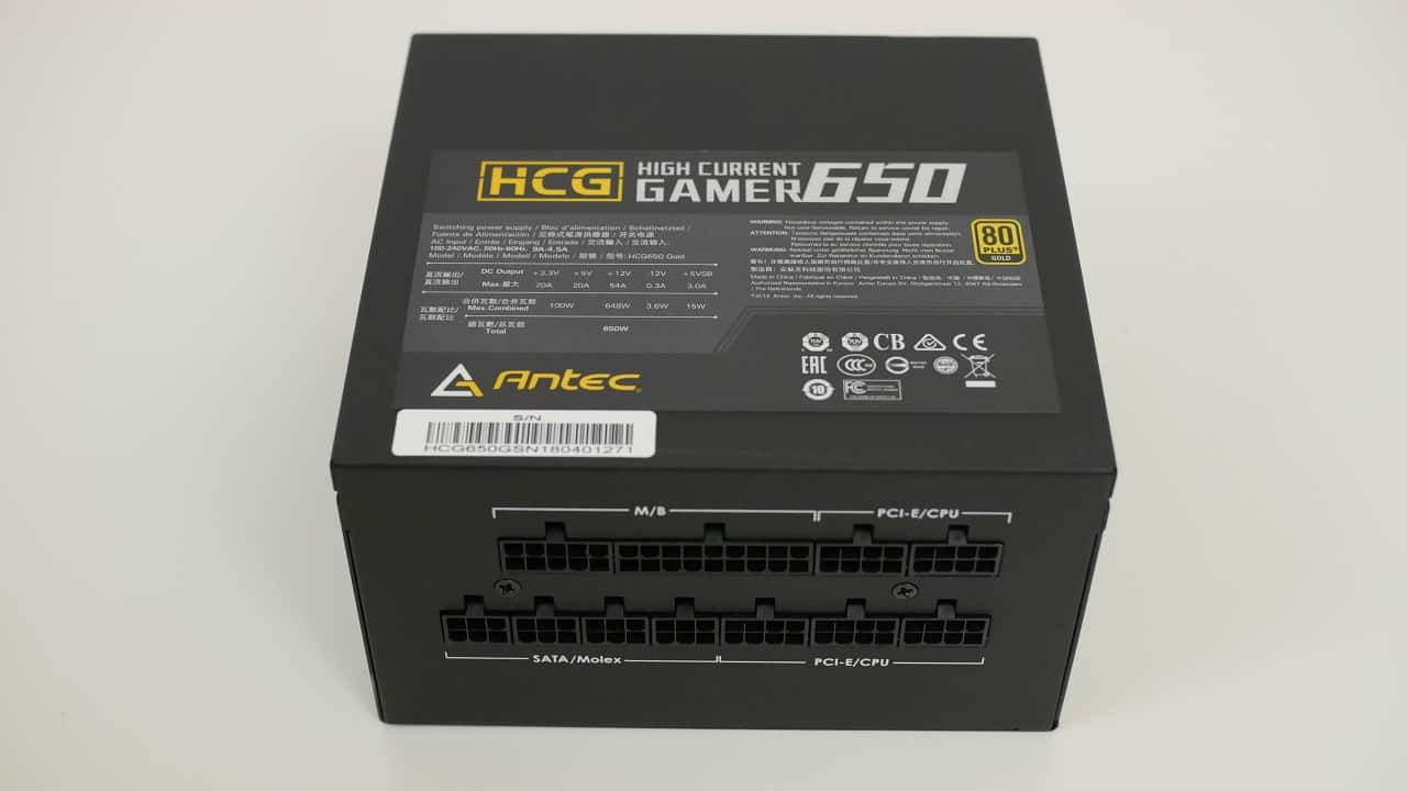 Recensione Alimentatore ANTEC HCG Gold 650W | PC-Gaming it