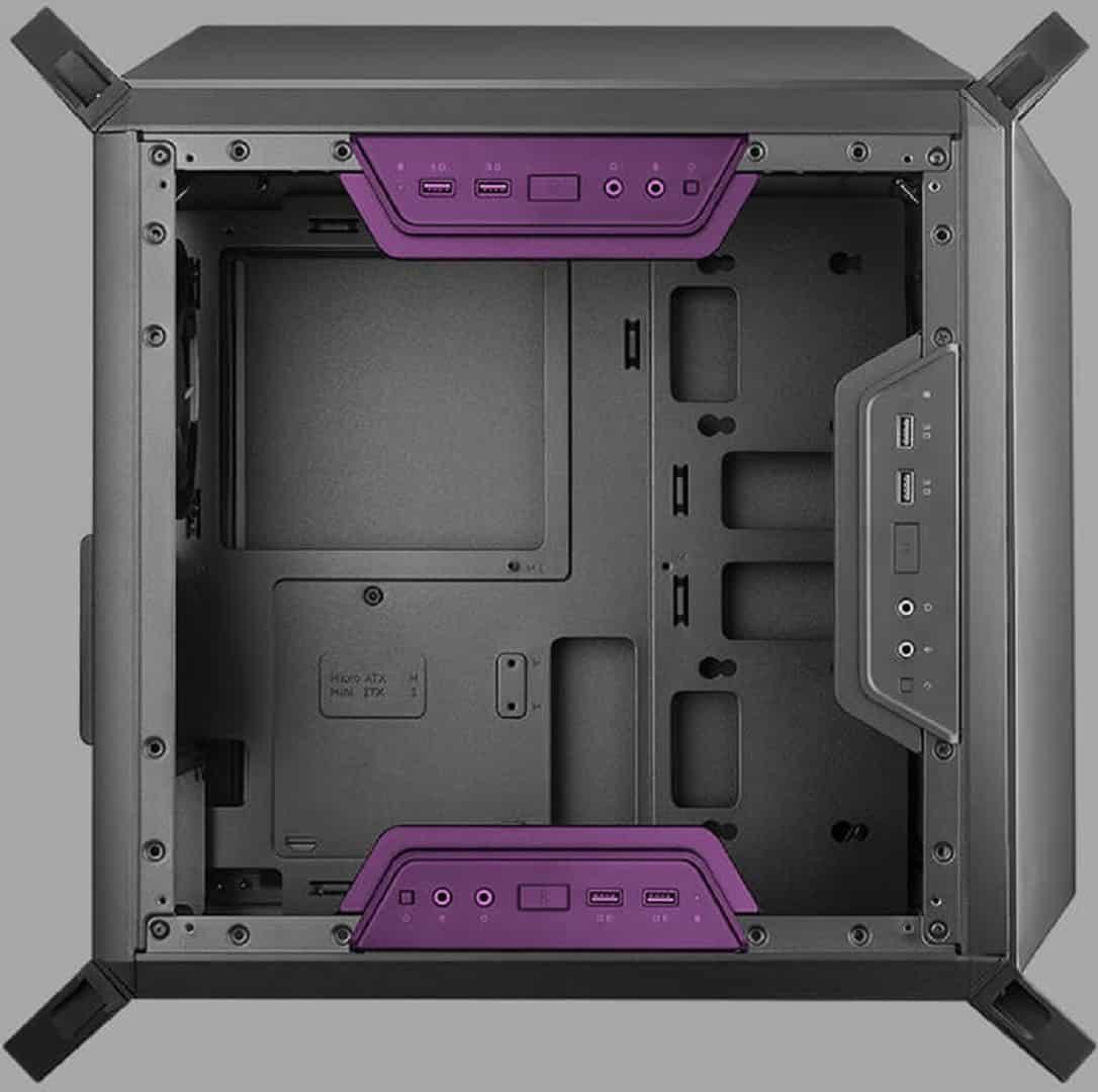 CM Q300P Modularità Pannello I O - Case Cooler Master MasterBox Q300P - Recensione