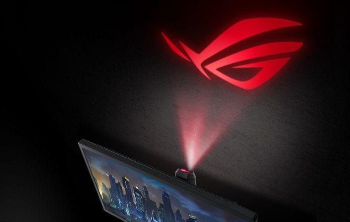 ROG Swift PG27UQ ROG Light Signal 696x443 - Prezzo PG27UQ più alto del previsto, è caro il monitor gaming 4K 144Hz