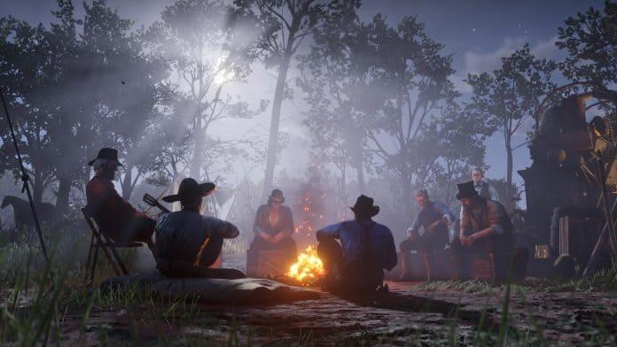 Red Dead Redemption 2 accampamento banda