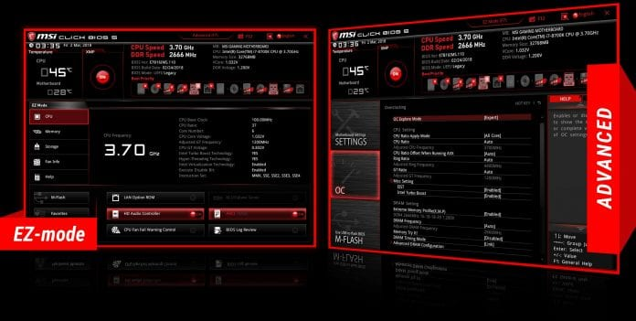 bios MSI H370 GAMING PLUS