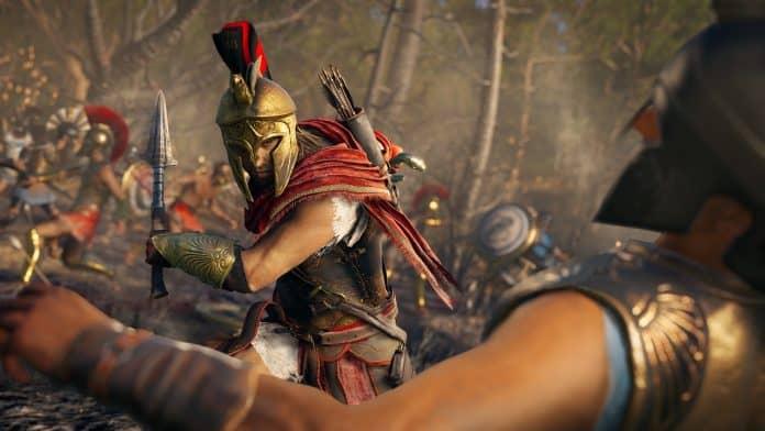 Assassins Creed Odyssey screen AlexiosEpicBattle E3 110618 230pm 1528723937 696x392 - NVIDIA GeForce 411.63 WHQL per Assassin's Creed Odyssey, Forza Horizon 4 e FIFA 19
