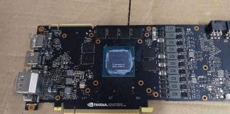 GPU NVIDIA TU104, GeForce RTX 2080, il PCB in foto