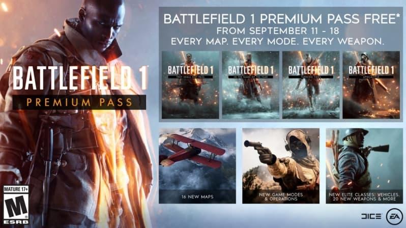 battlefield 1 premium pass gratuito - Battlefield 1 Premium Pass sarà gratuito per una settimana