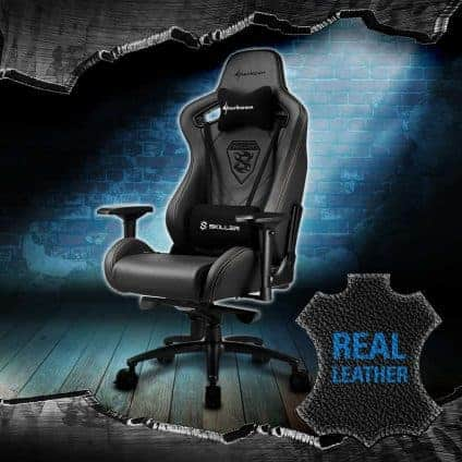 Sharkoon SKILLER SGS5 prem 424x424 - Sharkoon SKILLER SGS5 - La nuova sedia gaming premium con rivestimento in vera pelle