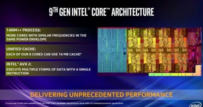 intel 9000 specifiche 1 696x368 - Intel Core i9-9900K, i7-9700K e i5-9600K - Prezzi e specifiche ufficiali