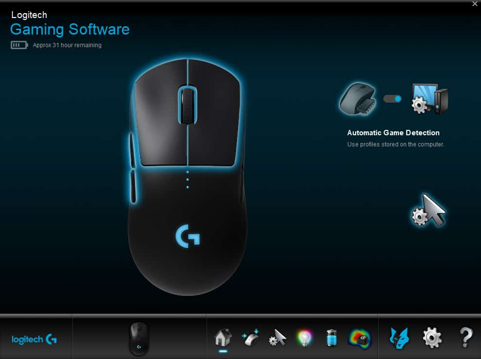 logitech g pro software 1 - Logitech G Pro Wireless Gaming Mouse Recensione