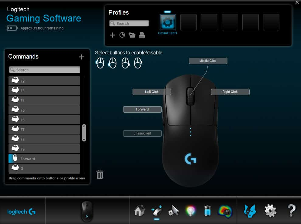 logitech g pro software 2 - Logitech G Pro Wireless Gaming Mouse Recensione