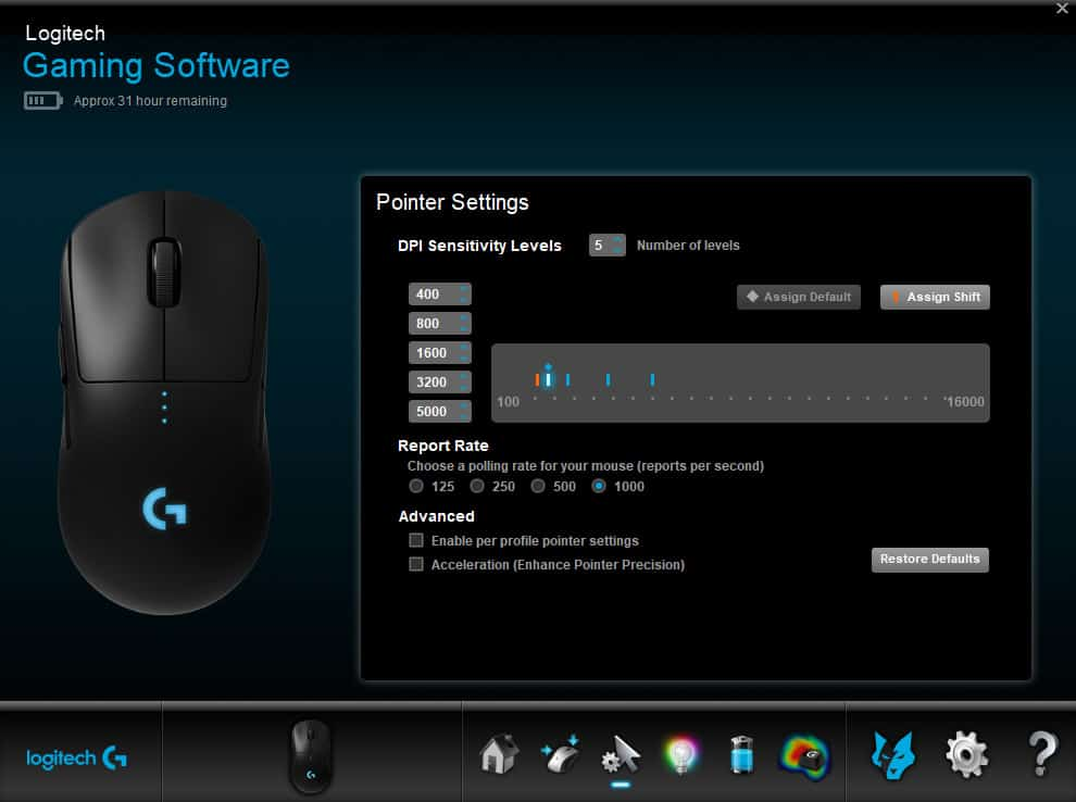 logitech g pro software 4 - Logitech G Pro Wireless Gaming Mouse Recensione