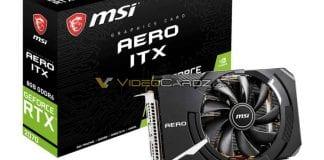 MSI Geforce RTX 2070 AERO ITX in foto