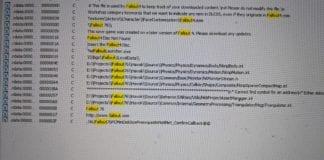 fallout 76 codice copiato1 324x160 - Fallout 76 ha diversi script e parti di codice presi da Fallout 4 e Skyrim