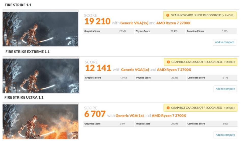 , AMD Radeon VII, primi benchmark sul 3DMark e Final Fantasy XV