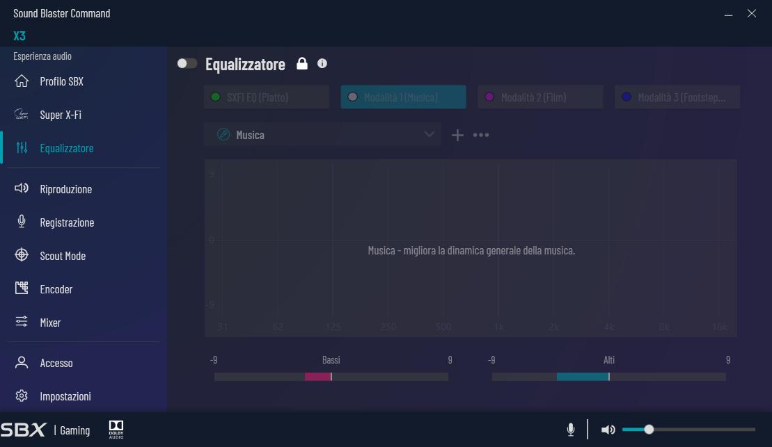 , Creative Sound Blaster X3 – Recensione